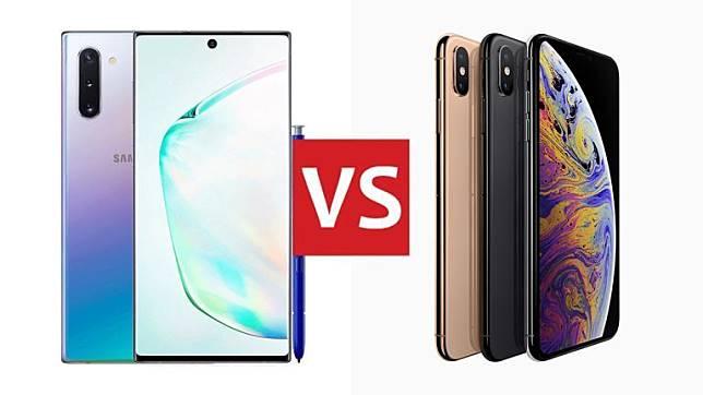 Perbandingan Spesifikasi Galaxy Note 10 dan iPhone XS Max, Beli Mana?