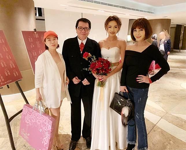 王夢麟漂亮女兒爆乳出嫁 身邊「超正熟女」好吸睛