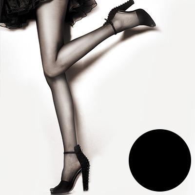 V.VIENNA 微微安娜 完美無縫‧全透膚絲襪 一打12入 - 黑色