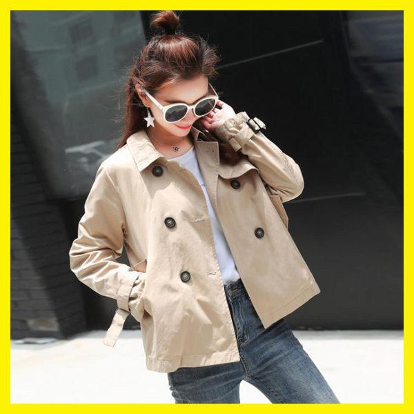 外套女春秋2019新款時尚韓版chic矮個子風衣短款薄休閒百搭新勢力