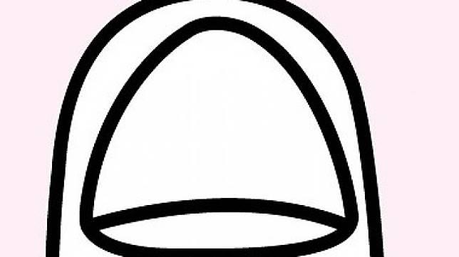 Bentuk kuku segitiga (triangular). (Shutterstock)