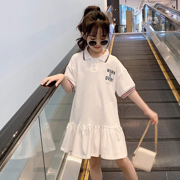 現貨 兒童2019新款夏季韓版潮女童連衣裙夏裝童裝女休閒裙子網紅超洋氣 童裝 女童裝 連身裙