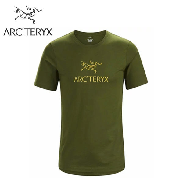 【ARC TERYX 始祖鳥 男 Arc word T-shirt 休閒Tee《叢林綠》】24013/短袖T恤/有機棉/運動衫
