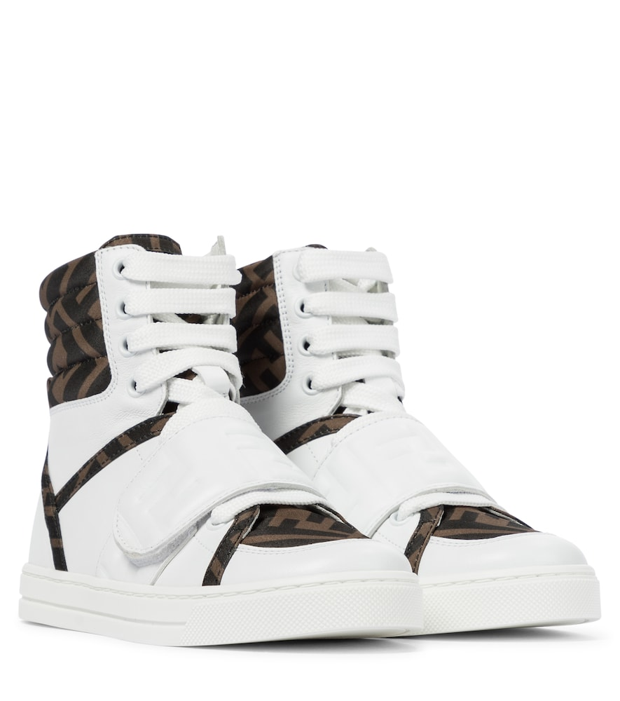 For the coolest footwear on the playground, look no further than these sneakers from Fendi Kids.
