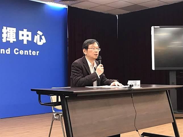 ▲疾管署副署長莊人祥說明大陸武漢肺炎情況。(圖/記者賴志昶攝)