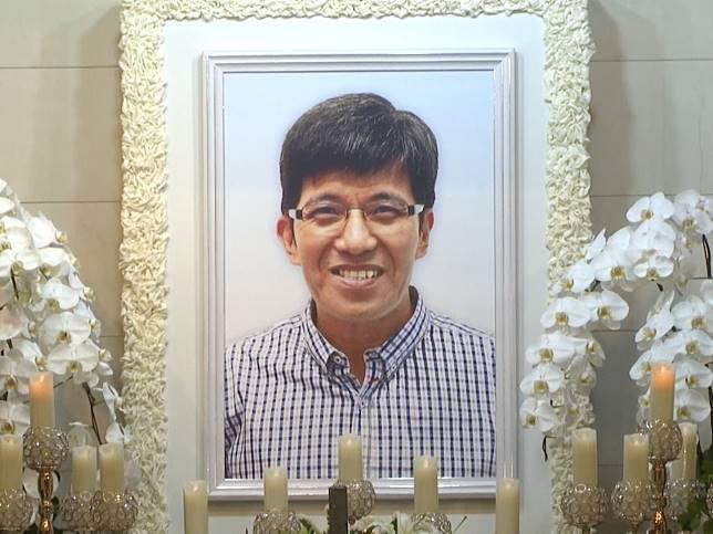 工業傷亡權益會總幹事陳錦康在本月初病逝,享年60歲,傍晚在紅磡萬國殯儀館設靈。(梁禎祥攝)