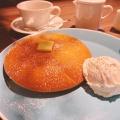 デンマークチーズパンケーキ - 実際訪問したユーザーが直接撮影して投稿した歌舞伎町カフェオスロコーヒー 新宿サブナード店の写真のメニュー情報