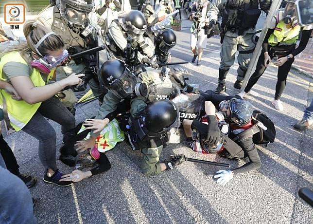 遊行當天最終演變成衝突事件,警方拘捕多人。