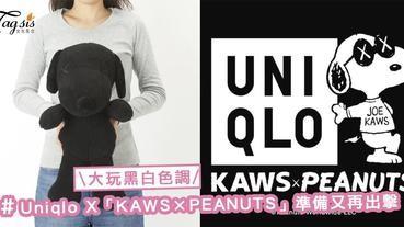 換了全新黑白色調!Uniqlo X「KAWS×PEANUTS」第2彈準備出擊!Snoopy迷這次要搶到喔〜