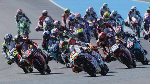 Moto3 Spanyol 2021. (REUTERS/JON NAZCA)