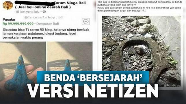 Penemuan Benda 'Bersejarah' Versi Netizen