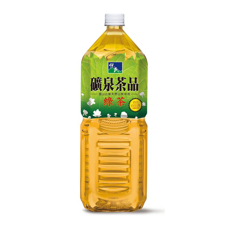 悅氏綠茶微甜Pet2000ml