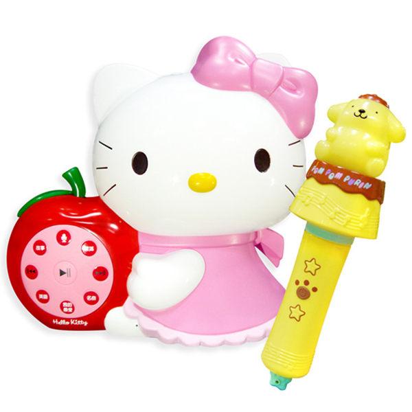 KITTY幼兒啟蒙教育遊戲機故事機+布丁狗音樂棒故事機-台灣製造(BIDO1011)