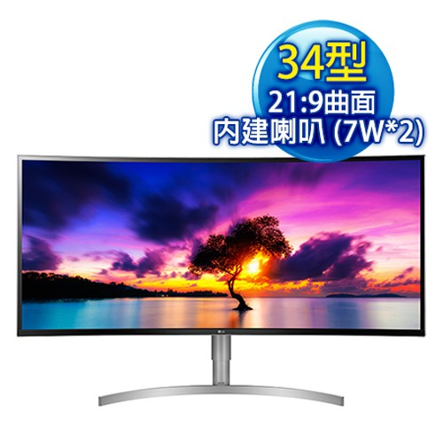 LG 樂金 34WK95C-W 34型 21:9 HDR曲面 IPS面板電競螢幕