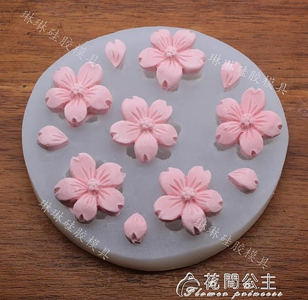 小櫻花花瓣花朵翻糖蛋糕裝飾硅膠模具香薰石膏模具