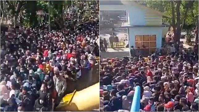 Viral Penampakan Kerumunan Vaksinasi di Lamongan, Berjubel dan Berdesakan!