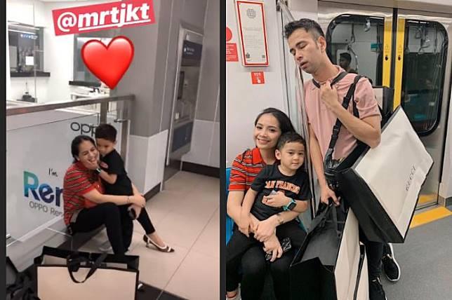 Penampilan Nagita Slavina Saat Naik Kereta Mrt Yang Curi Perhatian Stylo Id Line Today