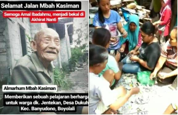 Mbah Karsiman simpan uang jutaan rupiah dalam kantong plastik dan berniat ingin naik haji