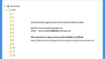 Organize Downloads by Date 會自動整理你 Chrome 下載內容的免費擴充外掛