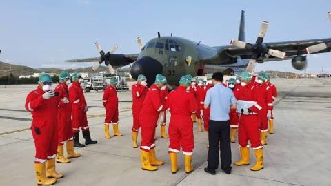 Sebelum ke Jakarta, Pesawat Hercules Angkut Peralatan Medis Sudah Mendarat di Natuna