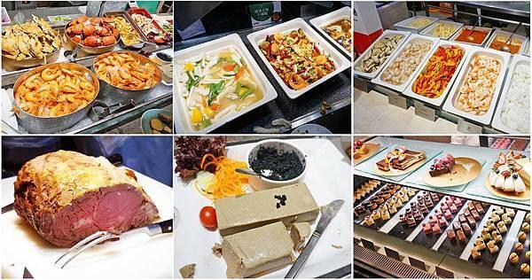 【台北美食】漢來海港餐廳-鵝肝、魚子醬、牛排、港式料理、日式料理、義大利麵、甜點等超多樣食材無限量吃到飽