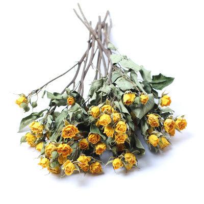 仿真樹-干花花束玫瑰花ins北歐風小清新家居薔薇花花束辦公擺設客廳裝飾 艾莎嚴選