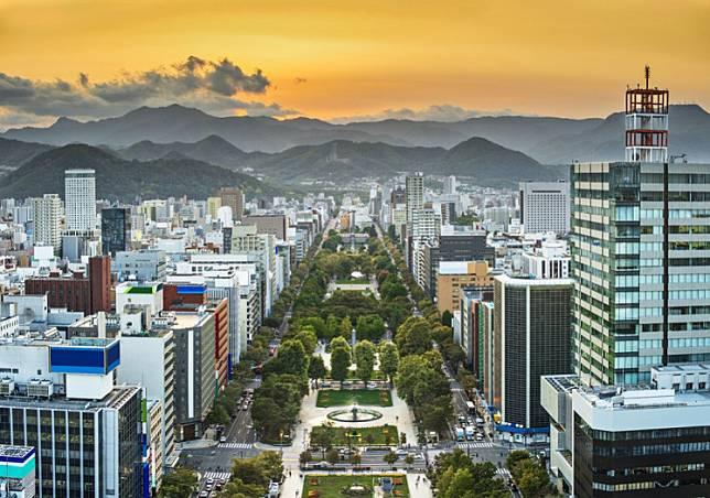 Cityscape of Sapporo, Japan.