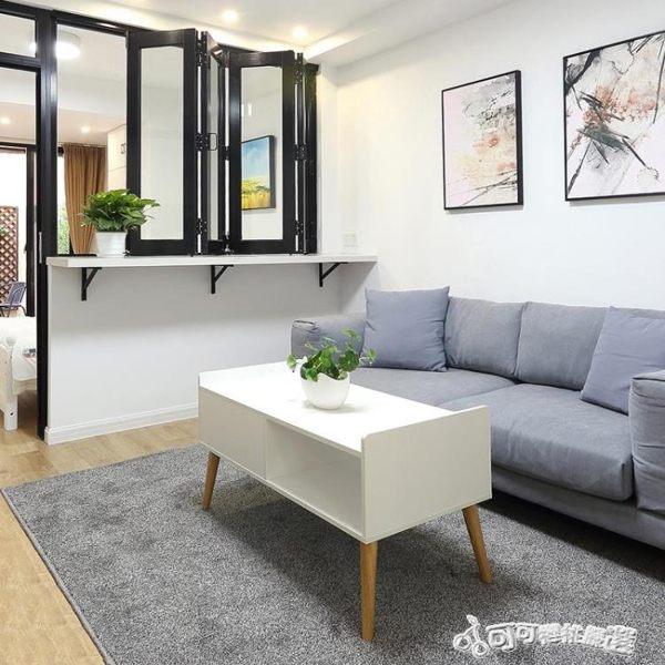 地毯 羊毛地毯臥室床邊客廳地毯北歐ins純色加厚可愛滿鋪家用地毯定 Cocoa YTL