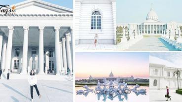 不用去美國看白宮了!台南就有了~「奇美博物館」, 彷如親臨神殿化身雅典娜女神!