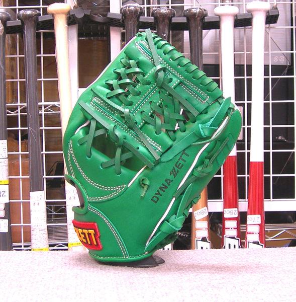 「野球魂中壢店」--「ZETT」【訂做等級】硬式棒球手套(投手&內野手,3SP035,綠色,工字檔)