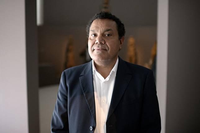 Emmanuel Kasarherou at the Quai Branly museum in Paris on October 14, 2013.