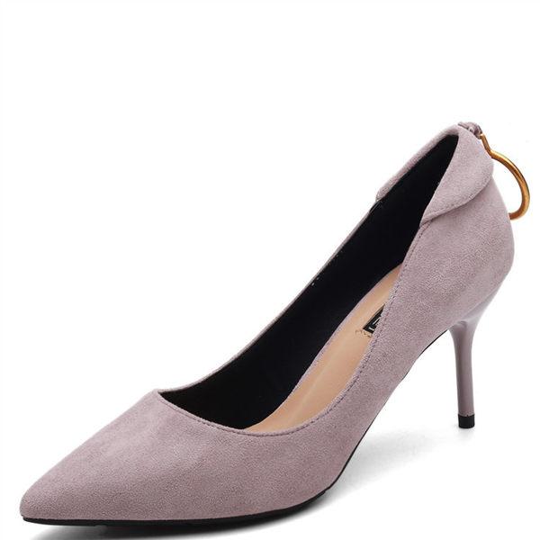 女高跟鞋 韓版女鞋子 淺口性感職業夜店工作名媛高跟鞋尖頭單鞋女春細跟鞋【多多鞋包店】ds4529