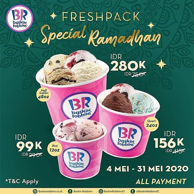 line today Baskin Robbins Promo Freshpack Special Ramadhan Images may be subject to copyright. Learn More Related images