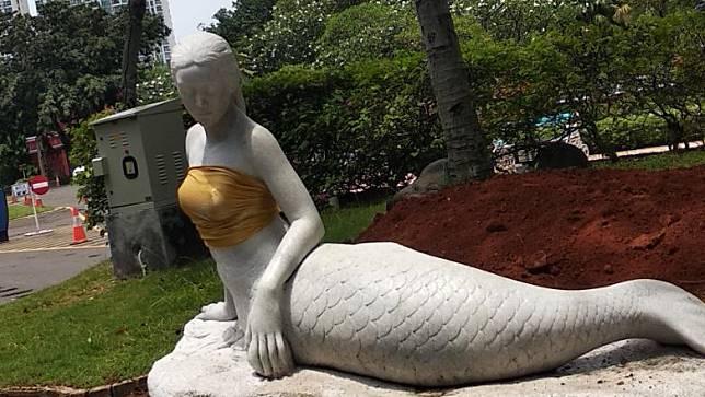 Ancol Ungkap Alasan Tutupi Payudara Patung Putri Duyung