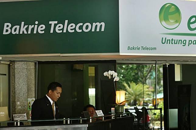 An office of telecommunication company PT Bakrie Telecom.
