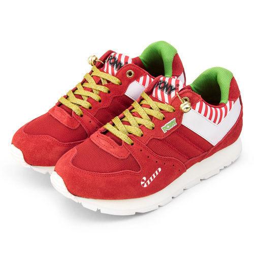 PONY 繽紛韓風復古慢跑鞋 SOLA--V 聖誕節款 紅白 9344SO24RD-- 女 6折零碼好康