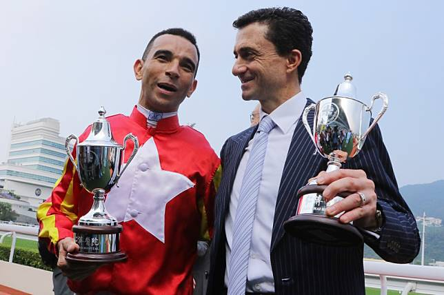 Douglas Whyte admires Joao Moreira's riding as they team up for their first winner: 'it's beautiful'