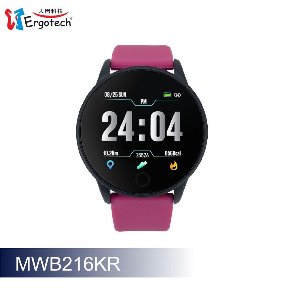 ip67 等級防水防塵 42mm 大錶徑錶面搭配 1.3 吋大螢幕彩色螢幕顯示 即時定時心率監測疲勞度監測 中文繁體文字訊息推送 抬手自動顯示可從錶面快速讀取 支援多種訊息提醒如 line / fb