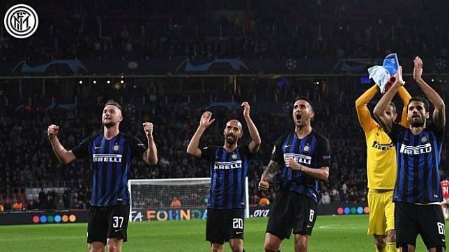 Pemain Inter Milan di Giuseppe Meazza.