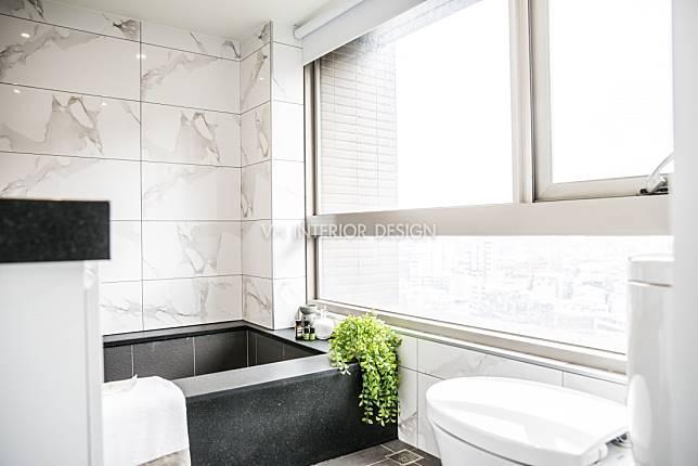 7. 精確選用浴件與植物,使浴室更出挑奪目