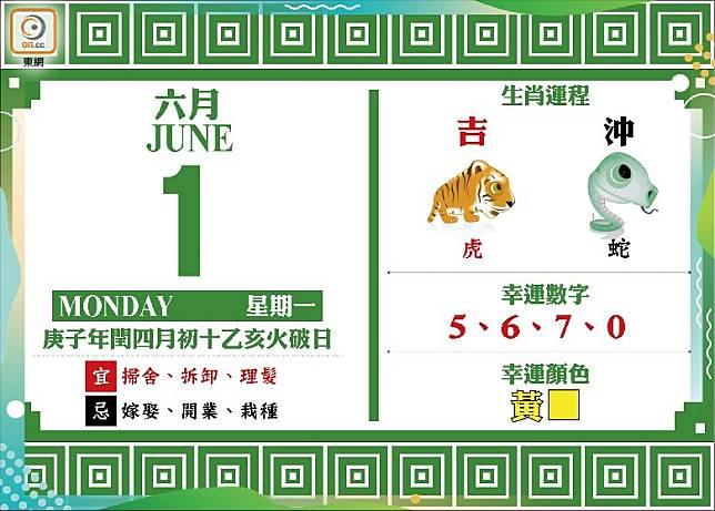 吉時:上午5時至7時、下午1時至3時、下午3時至5時