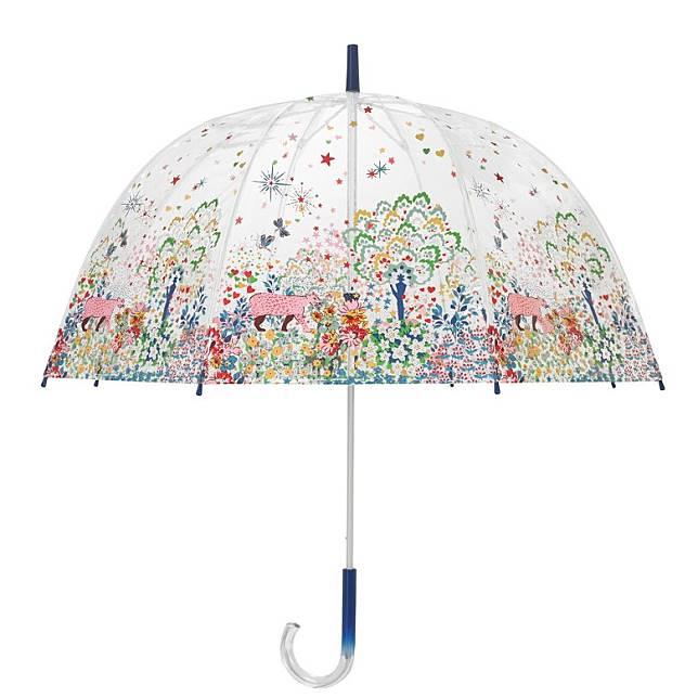 白色「Dream Forest」印花圖案雨傘(互聯網)