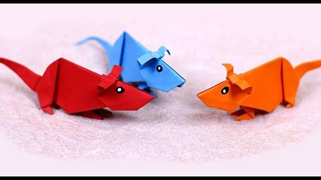 別看輕一張簡單的顏色紙,只要動動腦筋,最終可變成別出心裁的造型。這些老鼠可愛嗎?(互聯網)