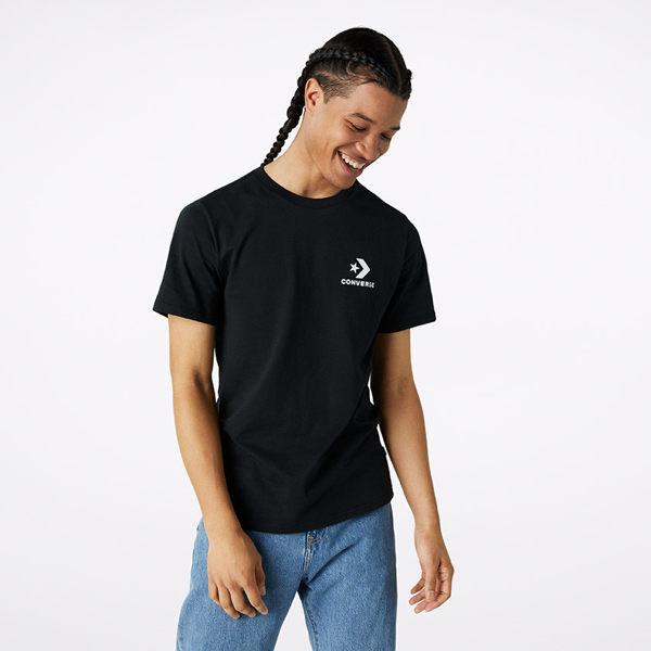 CONVERSE-黑色短袖上衣-NO.10018234-A02
