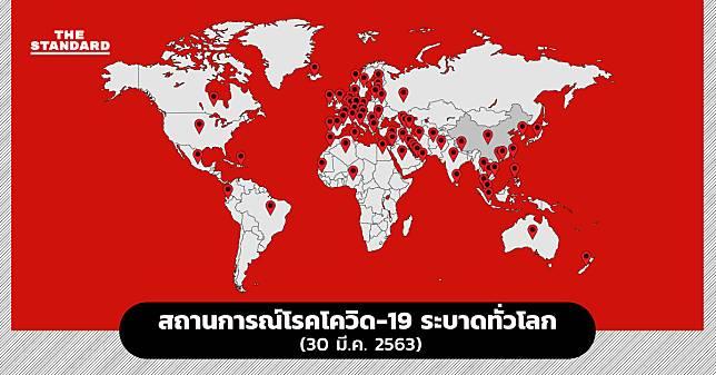 สรุปสถานการณ์โรคโควิด-19 ระบาดทั่วโลก (30 มี.ค. 2563)
