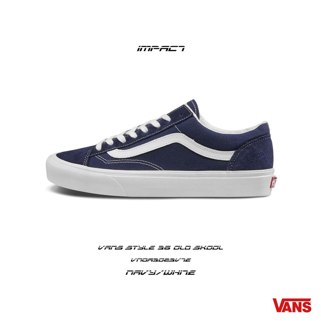 VANS Style 36 Old Skool 深藍 白 麂皮 運動 帆布 滑板鞋 VN0A3DZ3VTE IMPACT