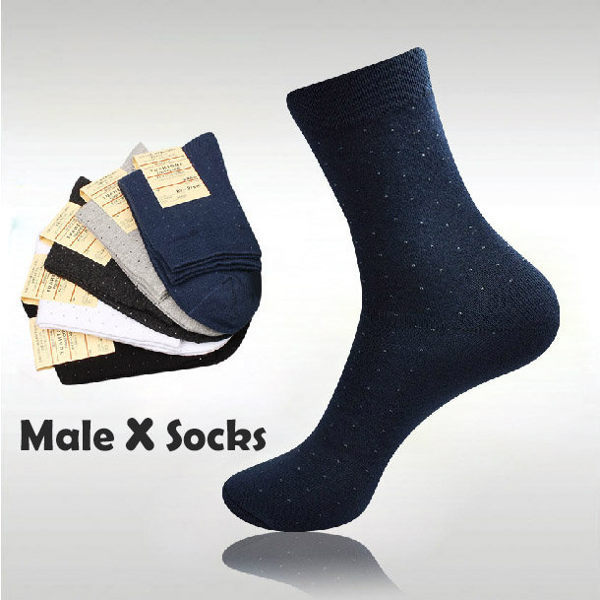 襪子【FSM011】男士商務點點襪 長襪 中筒襪 螢光色 氣墊襪 純棉 毛巾襪 收納女王