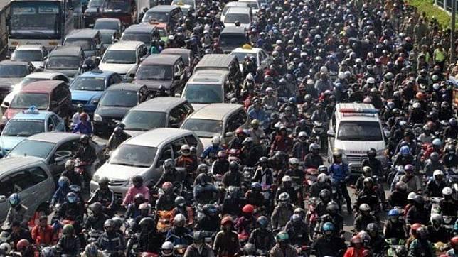 Ilustrasi kemacetan di Jakarta