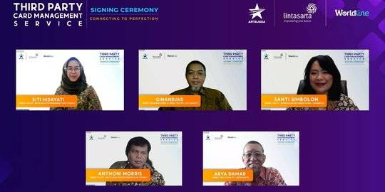 Kolaborasi Artajasa dengan Lintasarta didukung Worldline. ©2021 NYENTRIK.COM