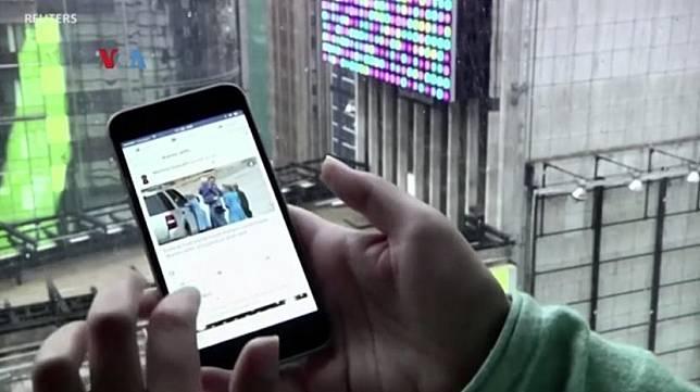 Aplikasi media sosial di ponsel pintar